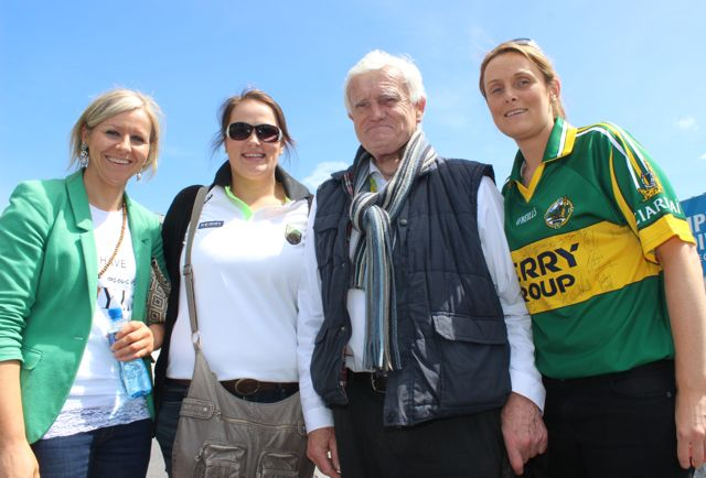 Claire, Eileen, Brendan and Kathleen Galvin, Castlecove, in Thurles for the Tipperary v Kerry match on Sunday. Photo by Dermot Crean