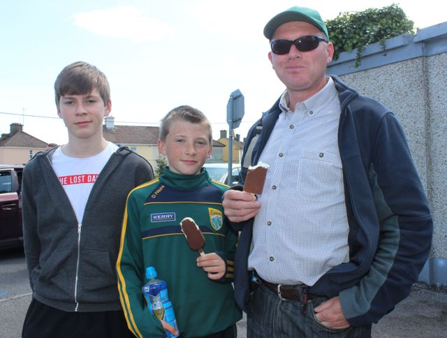 Cormac, Eoghan and Seamus Landers in Thurles for the Tipperary v Kerry match on Sunday. Photo by Dermot Crean