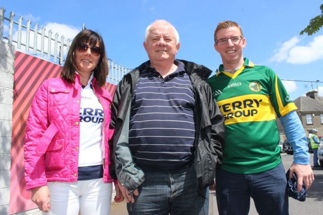Sharon, Eamon and Eamon Hartnett in Thurles for the Tipperary v Kerry match on Sunday. Photo by Dermot Crean