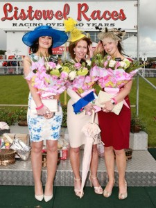 Winners Best Dressed Lady Listowel June Races from left Caitriona Walsh, Caroline O Sullivan (overall winner) and Maeve Murphy