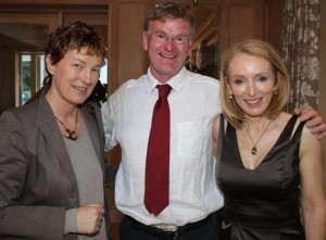 Alison Boardman, Mike Dillane and Miriam McGillycuddy at the Rotary Club President's night at The Pavilion in Ballygarry House Hotel on Friday. Photo by Dermot Crean