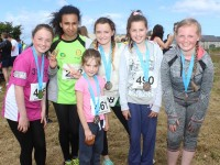 At the Blennervile National School 5k/10k Road Race, were from left: Emma Grainey, Zara Nolan, Leah Kelliher, Sinead Trant, Nicole Healy, Ellie Redmond. Photo by Gavin O'Connor.