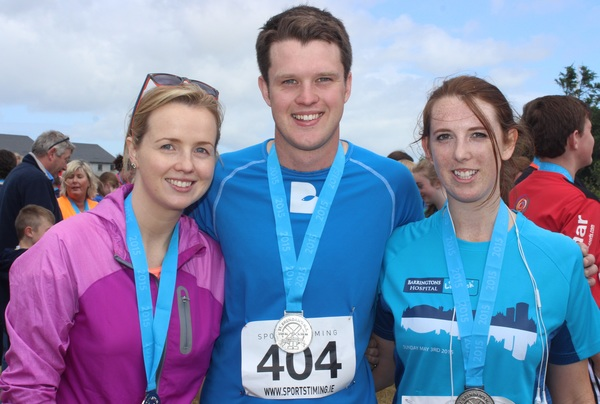 At the Blennervile National School 5k/10k Road Race, were from left: Carroll Connaughton, Kieran O'Connor and Rose O'Connor Ryan. Photo by Gavin O'Connor.