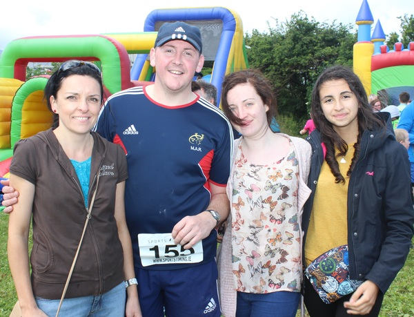 At the Blennervile National School 5k/10k Road Race, were from left: Anne O'Connor, Tom Cronin, Grace O'Connor and Angela Gonzales. Photo by Gavin O'Connor.