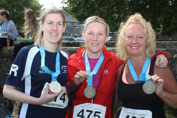 At the Blennervile National School 5k/10k Road Race, were from left: Catherine Costello, Martina Coffey and Carmel Hobbert. Photo by Gavin O'Connor.