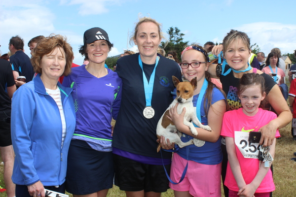 At the Blennervile National School 5k/10k Road Race, were from left: Liz O'Connor, Elaine O'Keefe, Mary Gardiner, Aoife Bourke, Teresa O'Brian and Nelly O'Brien. Photo by Gavin O'Connor.
