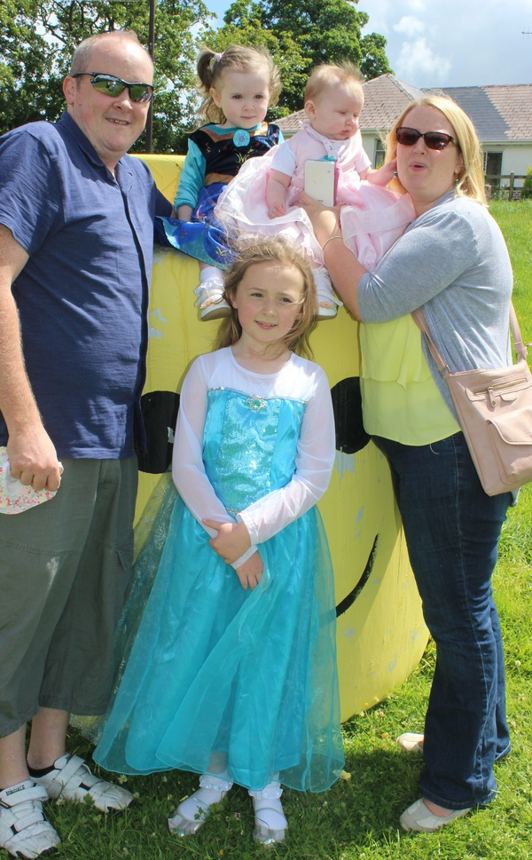 At the Kilflynn Enchanted Fairy Festival were, from left: Denis, Amy, Elaine Mulivihill. Seating: Eva and Cara Mulivihill. Photo by Gavin O'Connor.