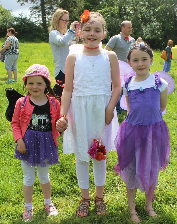 At the Kilflynn Enchanted Fairy Festival were, from left: Kaylaigh Broderick, Alana Moroney and Meagan Kennelly. Photo by Gavin O'Connor.