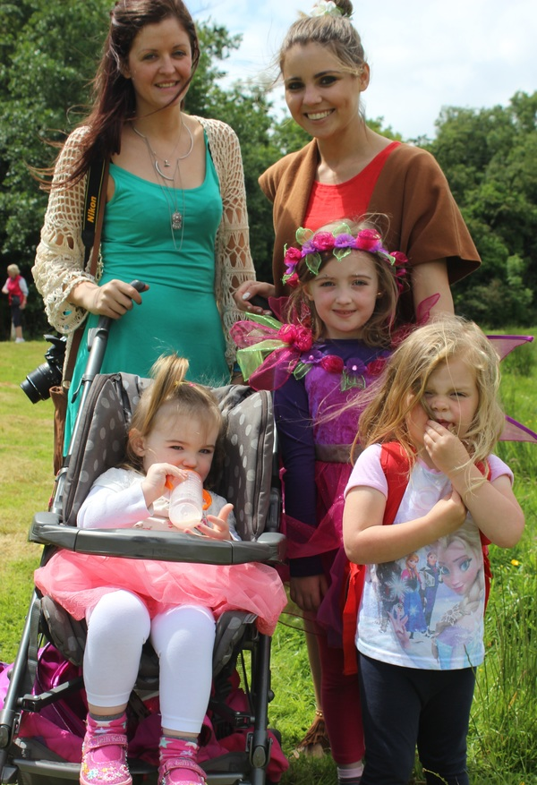 At the Kilflynn Enchanted Fairy Festival were, from left, front: Laura Hickey, Lexie Griffin, Alison Hickey. Back: Clara O'Donoghue and Denise O'Connor. Photo by Gavin O'Connor.