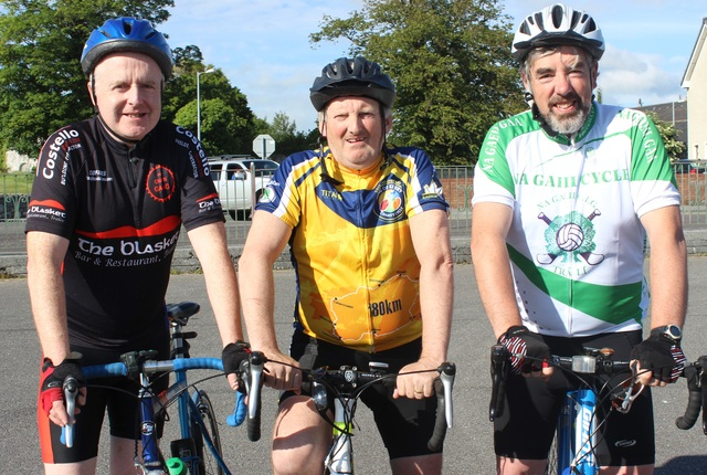 Members of the Na Gaeil GAA cycle group training for the Ring of Kerry cycle, are from left: Tim O'Connell. Photo by Gavin O'Connor.