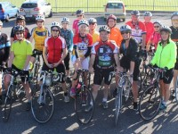 Members of the Na Gaeil GAA cycle group training for the Ring of Kerry cycle. Photo by Gavin O'Connor.