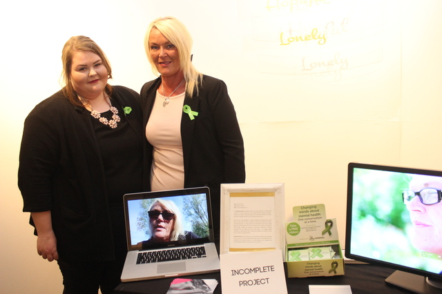 At the IT Tralee Post Graduate Exhibition on in the Ashe Memorial Hall were, from left: Zara and Josephine O'Dowd. Photo by Gavin O'Connor.