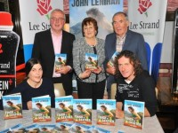 "Pictured at the launch of ""Tough as Leather"", the John Lenihan story written by journalist Con Dennehy at the launch in Gallys Tralee on Friday night. Front L/r: Clare O'Leary and John Lenihan. Back L/r: Con Dennehy, Margaret Dennehy and Weeshie Fogarty."