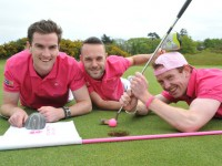 Irish Examiner News picture 15-05-2015 Thhe Pink Swingers Eoin Landers, DJ Geaney and Michael Sheehan at the launch of swing4cancer at Castlemartyr Resort. The initiative is a unique fundraising event in aid of Breast Cancer Ireland. The guys will race against the clock to play 32 golf holes in 32 golf courses in 32 counties on June 19 and 20 in 40 hours. Donations can be made via: idonate.ie/swing4cancer. Kindly supported by Kearys, Dwyers & Co. Irish Examiner is media partnerAt the launch of swing4cancer at Castlemartyr Resort today were the three 'Pink Swingers'Michael Sheehan, DJ Geaney and Eoin Landers. The initiative is a unique fundraising event in aid of Breast Cancer Ireland. The guys will race against the clock to play 32 golf holes in 32 golf courses in 32 counties on June 19 and 20 in 40 hours. Donations can be made via: idonate.ie/swing4cancer. Kindly supported by Kearys, Dwyers & Co. Irish Examiner is media partner. Picture Dan Linehan