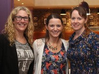 At the cahrity table quiz in aid of CROSS  charity and cancer research were from left: Sinead Kelleher, Joanne Allman and Kathleen Reidy. Photo by Gavin O'Connor.