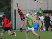 A brilliant catch by Mark Dineen of Ballyheigue during the Ballyheigue v Lixnaw Kerry Senior Championship game in Abbeydorney on Friday evening. Photo by Dermot Crean