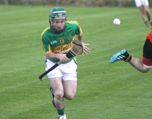 Lixnaw's James Flaherty keeps his eye on the ball. Photo by Dermot Crean