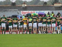 The Kerry team lineup for the national anthem. Photo by Dermot Crean.
