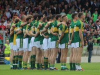 Kerry line up for the national anthem. Photo by Dermot Crean.