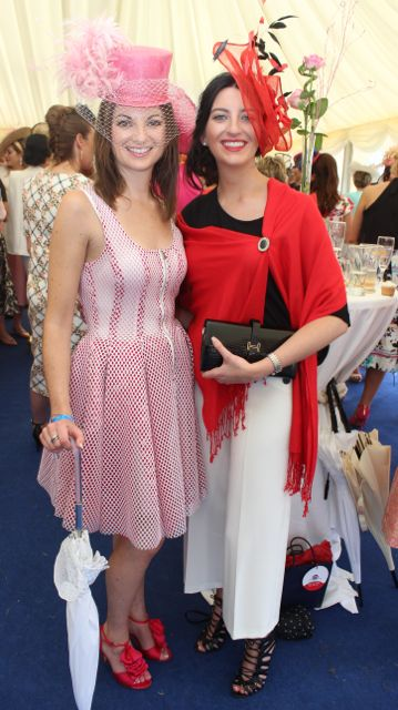 Jane and Lisa Sayers, Kenmare, at the Dawn Dairies Ladies Day at Killarney Racecourse on Thursday. Photo by Dermot Crean