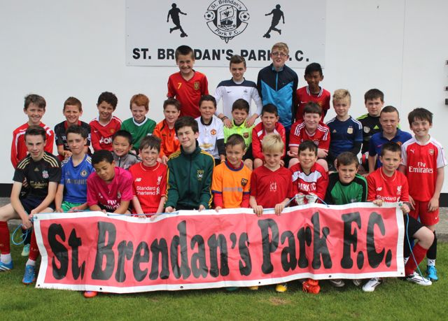 Kids who took part in the St Brendans Park FC Summer Camp, during the week. Photo by Gavin O'Connor.