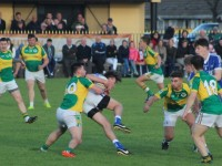 Kerins O'Rahilly's, Gavin O'Brien, wins a ball in midfield. Photo by Gavin O'Connor.