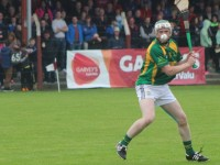 Kilmoyley's Daniel Collins lines up a shot earlier in the championship. Photo by Gavin O'Connor