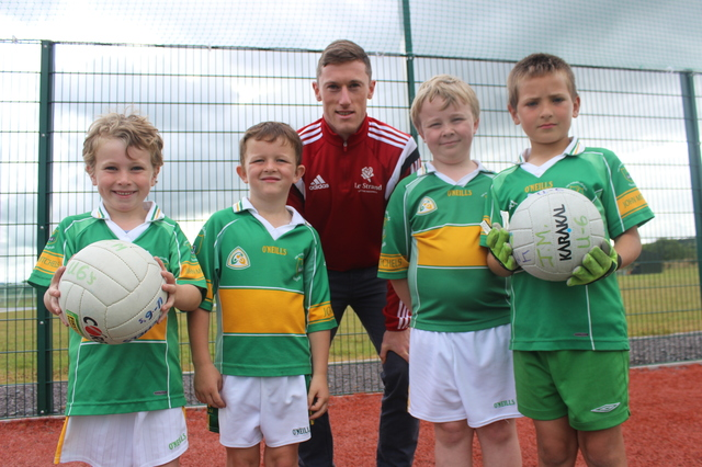 Kerry footballer, Jonathan Lyne at the John Mitchels GAA Summer Camp. Photo by Gavin O'Connor.