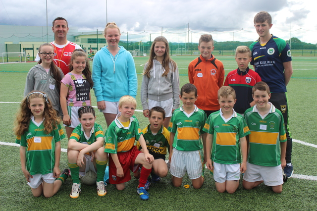 Coaches and players at the John Mitchels GAA Summer Camp, being held this week. Photo by Gavin O'Connor.