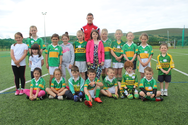 Kerry footballer, Jonathan Lyne at the John Mitchels Summer Camp. Photo by Gavin O'Connor.