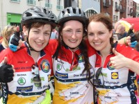 At the Ring of Kerry Cycle in Killarney were, from left: Marian Meehan, Mairead O'Connell and Breda Dunne. Photo by Gavin O'Connor.