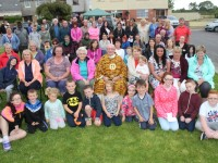 The Shanakill community and Fr Pat Lynch who came out for the mass held in Shanakill on Thursday evening. Photo by Gavin O'Connor.