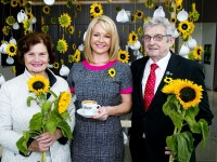At the launch of the Beuleys Ireland's Biggest Coffee Morning were, from left: Mary Shanahan, Kerry Hospice Foundation, Claire Byrne and Ted Moynihan, Kerry Hospice Foundation. Photo Colm Mahady / Fennells - Copyright 2015 Fennell Photography