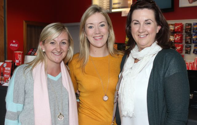 Karen Blennerhasset, Veronica Hunt and Linda Kane at the opening of 'A Doctor's Sword at Tralee Omniplex on Friday night. Photo by Dermot Crean