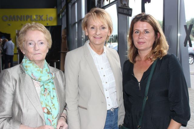 Mary Boyle, Nora O'Connor and Debora Tobin at the opening of 'A Doctor's Sword at Tralee Omniplex on Friday night. Photo by Dermot Crean