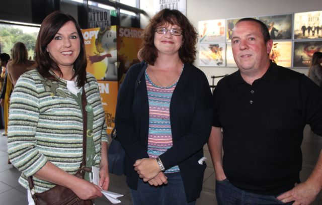 Margaret Cahill, Caroline O'Rourke and Alan Geary at the opening of 'A Doctor's Sword at Tralee Omniplex on Friday night. Photo by Dermot Crean