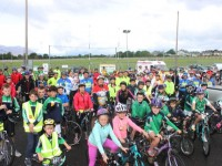 Participants about to take off in the Na Gaeil GAA Club cycle on Saturday morning. Photo by Dermot Crean