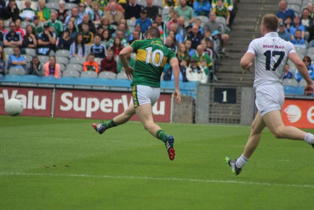 Stephen O'Brien, who scored 1-4, was one of Kerry's best performers. Photo by Dermot Crean.