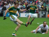 Donnachdh Walsh, scores a point against Tyrone in this year's semi-final. Photo by Dermot Crean.