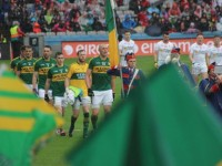 Kieran Donaghy, leads the parade for Kerry. Photo by Dermot Crean