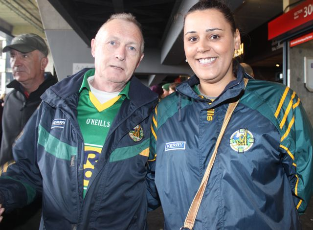 Jimmy O'Connor and Debbie Chapman, Killarney, at Croke Park for the Kerry matches on Sunday. Photo by Dermot Crean