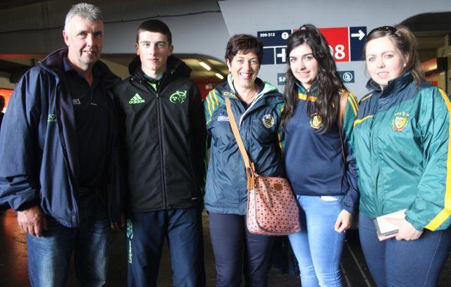 Dan Joe, Damien, Sheila, Laura and Christina O'Sullivan at Croke Park for the Kerry matches on Sunday. Photo by Dermot Crean