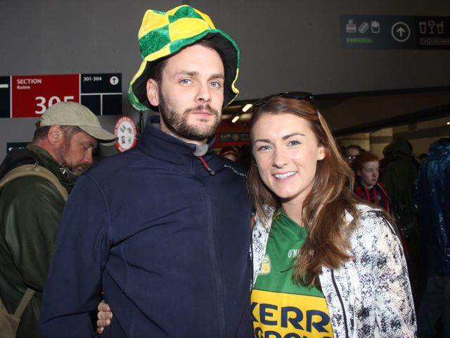 Brian O'Sullivan and Rebecca Driscoll at Croke Park for the Kerry matches on Sunday. Photo by Dermot Crean