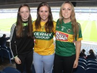 Ruth, Jenny and Elaine Courtney, Killarney, at Croke Park for the Kerry matches on Sunday. Photo by Dermot Crean