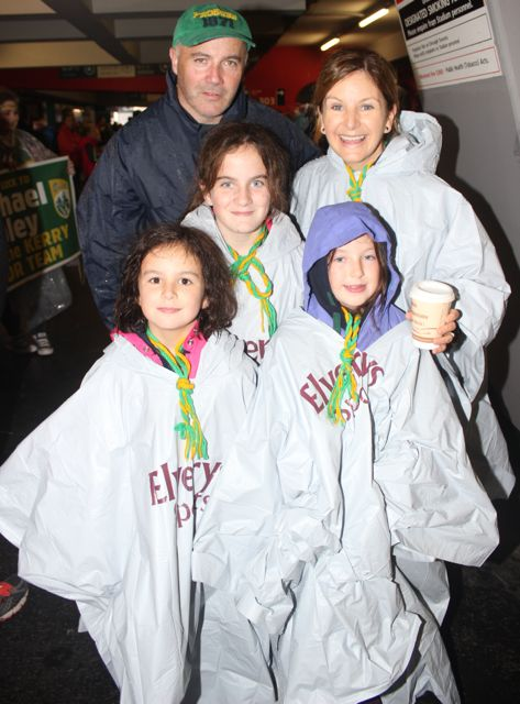 Colm, Caroline, Ruth, Anna and Jane Lynch and at Croke Park for the Kerry matches on Sunday. Photo by Dermot Crean
