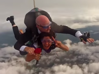 VIDEO: Watch Rose Of Tralee Maria Walsh Skydive Into Tralee In Excellent Clip