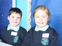 Junior infants pupils on their first day at school in O'Brennan on Thursday. Photo by Dermot Crean