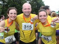 Ailbhe Culloty, Robbie Costelloe and Bernadette Ryan, former Laois Rose, after running the Rose of Tralee 10k on Sunday morning. Photo by Dermot Crean