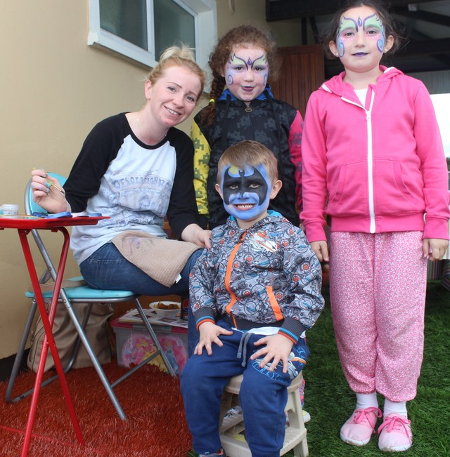 At the official opening of the new all-weather pitch in Mounthawk Park were, from left: Paula O'Regan, Evi Lynch, Jamie O'Regan, Donna O'Regan. Photo by Galvin O'Connor.