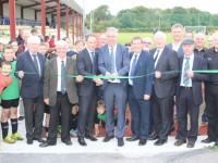 Martin O'Neil and John Delaney cut the ribbon. Photo by Galvin O'Connor.